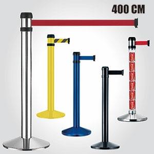 Retractable belt barrier - 400cm