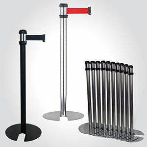 Retractable belt barrier - Stackable