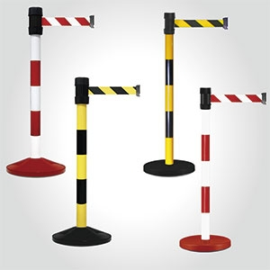 Safety Retractable belt barrier