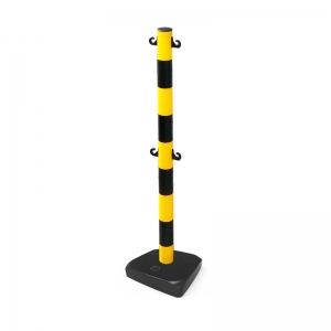 Plastic Stanchion (Yellow / Black) 2 pair of hooks