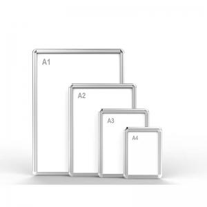 Snap-open aluminum alloy frame
